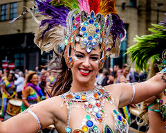 Carnival Girl. (James- Burke) Tags: carnival dancers girls parade costumes people portrait liverpool liverpoolpride street streetphotography streetcolour candid colourful performers streetartists artists fuji 55200mm