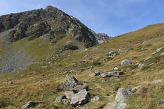 Pointe de Lona (bulbocode909) Tags: valais suisse grimentz valdanniviers sentiers montagnes nature pointedelona rochers paysages vert bleu cabanedesbecsdebosson