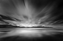 Dark Skies (annemcgr) Tags: beach sea water sky le longexposure castlegregory kerry monochrome blackwhite fineartphotography annemcgrath