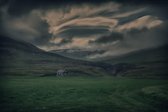 In the Eye of the Storm (Andrew G Robertson) Tags: iceland storm cottage vatsnes peninsula hvitserkur cloud rural