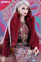 Fire & Ice (APPark) Tags: dolls 16scale integritytoys fashionroyalty nuface smokeandmirrorslilith boho fashion silverhair fauxfur autumn