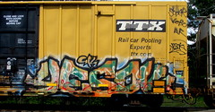 yesok (timetomakethepasta) Tags: yesok gk freight train graffiti art ttx boxcar tbox benching selkirk new york photography sober kebo
