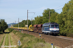 BB67370 sur train de travaux vers Ambronay (philippedreyer1) Tags: