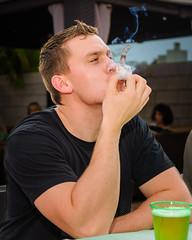 Cigar Smokin' Fun (greyhound rick) Tags: cigar smoke smoking party guy man fun funny nikon garyfonglightsphere portrait photoshop lightroom arizona chandler