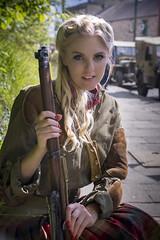 Annie (stilk50) Tags: 40s 40sevent crich girl woman gun blonde uniform