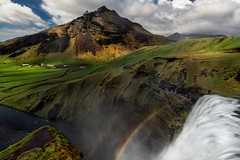 Water down below (Howard L.) Tags: canonef1635mmf4lisusm ilce7rm2 iceland rainbow skógafoss skógafosshikingtrail sonya7rii stack waterfall