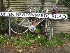 Iwona Zakierska's Ghost Bike at corner of Upper Newtownards Road and North Road, Belfast (John D McDonald) Tags: iwona zakierska iwonazakierska rip ripiwonazakierska iwonazakierskaghostbike iwonazakierskabike iwonazakierskabicycle bicycle bike ghostbike uppernewtownardsroad newtownardsroad northroad northroadbelfast eastbelfast bloomfield bloomfieldbelfast strandtown belfast countydown codown down northernireland ni ulster geotagged