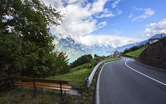 S Curve (d/f) Tags: lakewalen lakewalenstadt walensee landscape weitwinkel wideangle wolken clouds landschaft schweiz suisse svizzera svizra switzerland street strasse kurven kurve skurve scurve bank sitzbank wasser aussicht