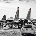 REDHAWKS F-15C ON STATIC DISPLAY IN BLACK, WHITE AND A LITTLE RED thumbnail