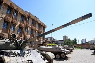 Tank on the grounds of Amna Suraka (Red Prison) Museum, Sulaymaniyah / Iraqi Kurdistan