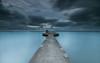 The pier   [ explore 17|08|2017 ] (marcolemos71) Tags: seascape tagusriver waves hightide pier concret fisherman sky clouds rain sunrise longexposure leefilters minimalism marcolemos