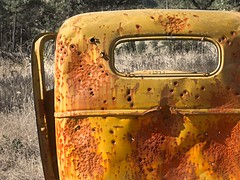 Bullet Riddled Old Car 3317 C (jim.choate59) Tags: bulletholes targetpractice dufuroregon rural decay rust jalopy oldcar antiquecar hunting jchoate car auto abandoned ruraldecay dufur