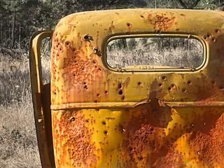 Bullet Riddled Old Car 3317 C