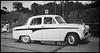 Mother in our Austin Cambridge -58 in the mid sixties... (iEagle2) Tags: austin cambridge a55 mother car sweden blackandwhite blackwhite bw sixties