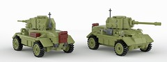 "Cartunlina ""Armored"" Car (John Moffatt) Tags: lego digital designer armored car gun wheels cannon zoom whoneedsprotectionanyway r"