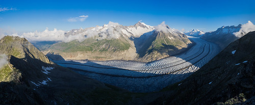 Extreme Environments: The mighty Aletsch Glacier, Bernese Alps, Valais, Switzerland