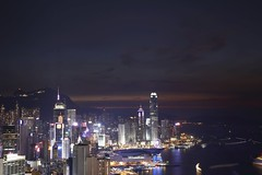 Hong Kong Island at Night (superzookeeper) Tags: hk hongkong canoneos5dmarkiv ef2470mmf28liiusm 5dmk4 5dmkiv eos braemarhill night longexposure skyline city harbor victoriaharbor lighttrail lights ifc sky instagramhill internationalfinancecenter central cwb causewaybay wanchai