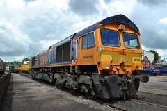 GB Railfreight 66729 Derby County (Will Swain) Tags: 23rd july 2017 crewe heritage centre 30th anniversary weekend cheshire north west south county train trains rail railway railways transport travel uk britain vehicle vehicles country england english gb railfreight 66729 derby class 66 729