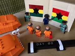 SHIPtember Day 2: Flying the flag of the Black Star Line. (Keith Goldman) Tags: shiptemberv ship lego space marcusgarvey ghana blackstarline goat