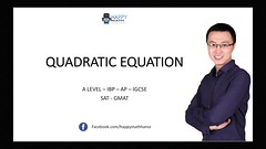 HOW TO SOLVE MATH   QUADRATIC EQUATION [ PART 1] - IB A LEVEL IGCSE (Happymath _ Math Teacher) Tags: alevel alevelsubject algebra aslevel aa âa calculus easymaths fastmath mathematician math mathematics maths mathquiz mathsonline mathproblemsolver mathsproject mathformulas mathsquestion mathforkids mathtutoronline mathtricks mathssolution mathworksheets mathwordproblems mathtest grade khanacademy khanacademymath khan learnmath prealgebra mentalmath 3rdgrademath 7thgrademath trigcalculator internationalschool triggraphs googlemath onlinemath discretemathematics geometricshapes geometryformulas trigonometryformulas