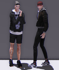 LOYAL (Levi Megadon // *OMG*) Tags: sl secondlife men mens male blogger blog look lotd outfit clothing clothes mesh style stylish wear fashion retro street urban streetwear cool dope aitui beusame hair cap hat vrsion jacket blankline twill shorts fli ozweega sneakers sneaks famefemme bomber hoodie set semller jeans skinny denim pants rare gatcha flite event themensdept tmd kustom9 k9 menonlymonthly mom