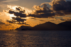 Sunset on the Mediterranean (SteveProsser) Tags: capri isleofcapri mediterraneansea amalficoast italy amalfi sunset mediterraneansunset