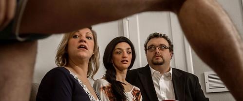 "Jessica Elwell, Kim Scarfe, and Will Frazier in ""Randy"""