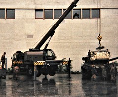 Dismantling & reassembling a tank at the Swiss Army garrison, Thun (photo by Roger Johnson)