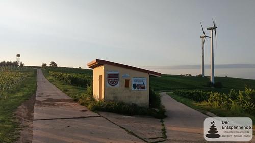 Weinbergshäuschen am Zornheimer Ruhkreuz - SunriseRun über dem Selztal