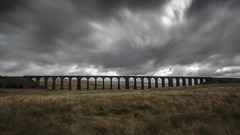 British summertime at Ribblehead (andyrousephotography) Tags: ribbleheadviaduct viaduct chapelledale yorkshiredales moors badweather lowcloud rain wind windy marshy peatbog water wellies sunshine fatchance grasses blowing movement longexposure le leefilters 06ndgradmed bigstopper 10stops andyrouse canon eos 5d mkiii ef24105mmf4l