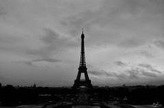 Tour Eiffel (paulgarciaphoto) Tags: damedefer tower eiffel tour clouds cloud nuage blackandwhite bw new black white paulgarciaphoto paris france french trocadero