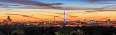 Berlin City Skyline Panorama (FH | Photography) Tags: berlin skyline city panorama pano sunset sunrise sonneaufgang wolkenstimmung himmel funkturm skyscraper wolkenkratzer fernsehturm stadt tourismus hauptstadt deutschland europa blau grunewald charlottenburg wahrzeichen sehenswürdigkeiten türme urban morgens stimmung dunst nebel