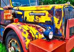 Autocar-Diesel (Dalliance with Light (Andy Farmer)) Tags: truck dilapidated vintage antique towtruck saturated old cranburytownship newjersey unitedstates us abstraction