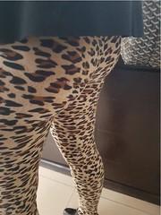 4.2 (alexazamolo) Tags: milf hotwife sexy legs miniskirt upskirt butt camel toe ass teasing flashing voyeur leggings yogapants animal print