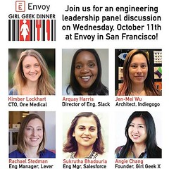 Thrilled to moderate this eng leadership event with Sukrutha - congrats on the promotion this week!! SENIOR Eng Mgr 🎉🎉🎉👏👏👏 envoy-girl-geek-dinner-2017.eventbrite.com (thisgirlangie) Tags: thrilled moderate this eng leadership event with sukrutha congrats promotion week senior mgr 🎉🎉🎉👏👏👏 envoygirlgeekdinner2017eventbritecom