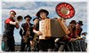 ORKESTRA DEL SOL (drewster123) Tags: musicians music band orchestra edinburgh portobello busker busking fringe beach trumpet accordion trombone drums canon 70d 24105mml