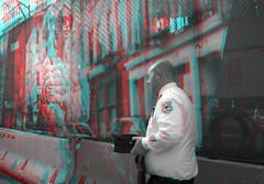 New York, New York (DDDavid Hazan) Tags: nyc ny newyorkcity manhattan downtown officer street streetphotography wtc worldtradecenter memorial anniversary uniform anaglyph 3d bw blackandwhite bwanaglyph 3danglyph 3dstereophotography redcyan redcyan3d stereophotography stereo3d fashionweek