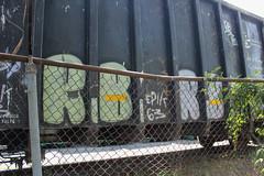 Rb, Epik (NJphotograffer) Tags: graffiti graff trackside track railroad rail art freight train bench benching gondola rb epik 63 itd circlet circle t crew