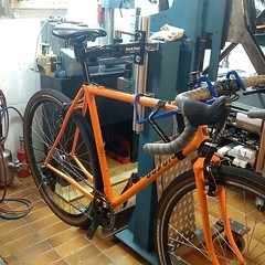 The final check before the Gravel Grinder leaves for a new home #ccycles #steelisreal
