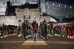 Tattoo 2nd Visit-49 (Philip Gillespie) Tags: 2017 edinburgh international military tattoo splash tartan scotland city castle canon 5dsr crowds people boys girls men women dancing music display pipes bagpipes drums fireworks costumes color colour flags crowd lighting esplanade mass smoke steam ramparts young old cityscape night sky clouds yellow blue oarange purple red green lights guns helicopter band orchestra singers rain umbrella shadows army navy raf airmen sailors soldiers india france australia battle reflections japan fire flames celtic clans