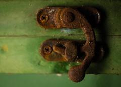 Rust (BSchwend1) Tags: rust macromondays picturesforirma macro green orange latch goawayirma florida