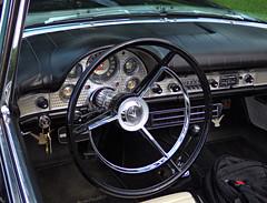 Thunderbird (Colorado Sands) Tags: car vehicle automobile tbird ford thunderbird convertible denver colorado pridefest denverpridefest 2014 sandraleidholdt usa steeringwheel interior vintage