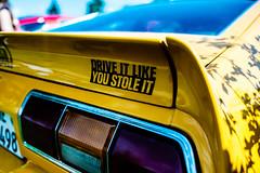 ...GoodSlogan... (7H3M4R713N) Tags: cars car fujinon23mmf14 fujifilm xt2 blueandyellow sticker slogan switzerland swiss mirorless voiture