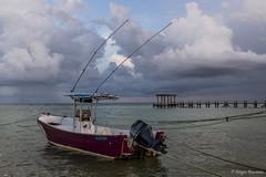 Calm After The Storm (serbosca) Tags: playadelcarmen spiaggia tramonto quintanaroo messico mx caraibi mexico boat sea beach nikond500
