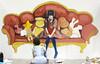 Artist at Work (Design Festa) Tags: designfesta designfestasummer gakuten design festa festival artfestival japanartfestival art japaneseconvention convention tokyobigsight tokyo japan livepainting painting live drawing artistatwork artistsatwork artist designer creator mural wallpainting sofa couch teddybear stuffedanimals