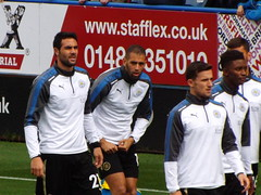 Leicester players warm up (lcfcian1) Tags: huddersfield town afc lcfc leicester city john smiths stadium premier league football sport stadia epl bpl yorkshire huddersfieldtown leicestercity htafc huddersfieldvleicester islamslimani vicenteiborra benchilwell