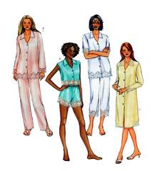 Butterick 4084 Women Pajama Pattern (FindCraftyPatterns) Tags: butterick4084 women sleepwear nightwear sewingpattern pajama tappants shorts boxers camisoletop size68101214 uncut