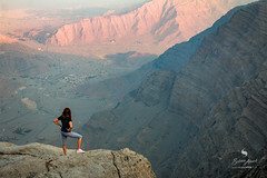 On the top Jabal Jais (hisalman) Tags: girl lady woman mountains jabaljais uae rasalkhaimah rak morning height hisalman canon 70d travel