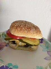 Home made cheeseburger (Brave Heart) Tags: homemade hungry hamburger cheeseburger