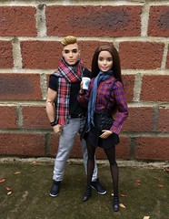 Autumn Daze (MaxxieJames) Tags: vittoria belmonte bastian hunter mattel barbie ken teresa fashion fashionista autumn fall coffee starbucks miniature doll dolls collector